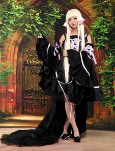Чобиты Чи Хэллоуин Косплей Костюм Милая Лолита Черное Платье Хэллоуин