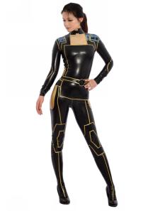 Costume Carnevale Moda Multi colore senza cappuccio Unisex Body in lattice