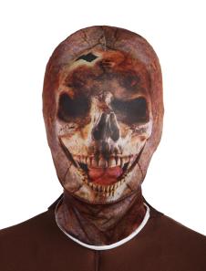 Costume Carnevale Multi colore scheletro Unisex Lycra Spandex cappe