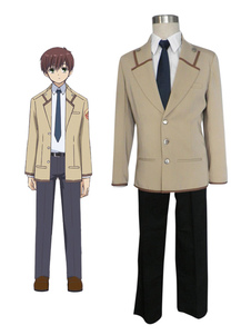 Escola elegante uniforme Angel Beats Cosplay Fantasia conjunto  Halloween