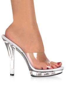 Mulheres Sexy Sapatos 2020 De Salto Alto Sandálias Peep Toe Chinelos Transparente PVC Sexy Sandálias