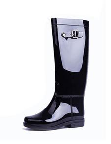 Stivali da pioggia eleganti bicolori con fibbia