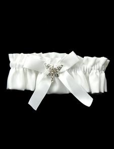 Arco branco cetim lindo casamento Jarreteira