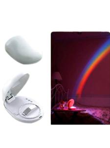 Lâmpada de proteger de casamento Rinbow branco PVC