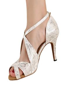 Argento Peep Toe metallico attraversano seta e Raso elegante scarpe latine