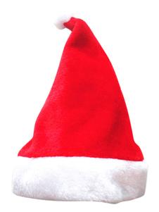 قبعة سانتا عيد الميلاد حمراء اللون الأبيض