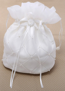 Pérolas bolsa bege branco casamento para noivas
