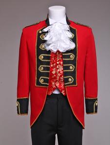 Принц ретро костюм мужской красный Европейский костюм Старинный Королевский наряд Хэллоуин