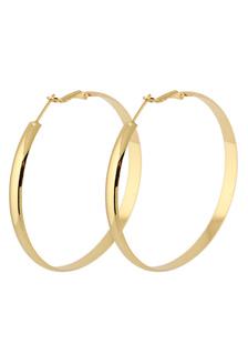 رائع الذهب والمعادن جولة مثقوب أقراط الموضة للمرأة