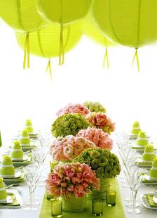 Casamento de papel ondulado decorado Latern