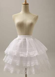 Três camadas de Flare curto grande deslizamento casamento nupcial Petticoat