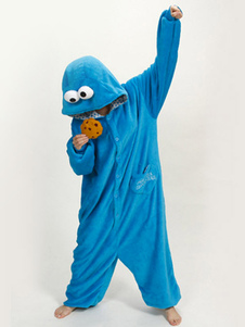 Kigurumi Pijamas Sesame Street Onesie For Kid Fleece Flannel Blue Costume Halloween
