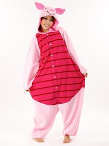 Disfraz Carnaval Pijama Kigurumi 2020 Credito Mono para Adultos de Lana de Franela de Dibujo Animado Disfraz de Cosplay Halloween Carnaval