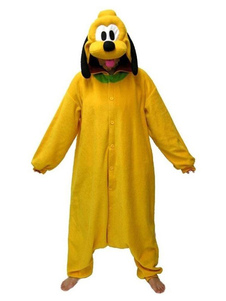 Disfraz Carnaval Plutón Kigurumi Pijama Onesie para adultos Fleece Flannel Yellow Cartoon Dog Anime Costume Halloween Carnaval