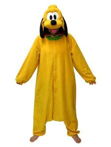 Costume Carnevale Pigiama Pluto Kigurumi Tutina per adulto in flanella di flanella giallo Cartoon Cartoon Anime Costume Carnevale