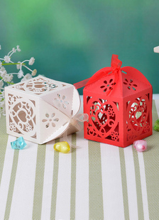 Arco querida pérola papel noivado Favor conjunto de caixas de 12