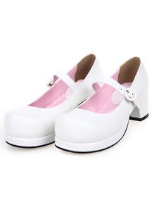 Zapatos Lolita Tacón Cuadrado Gruesos Tirantes