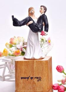 Divertente classico & tradizionale statuetta Wedding Cake Topper