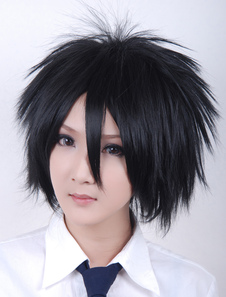 Carnevale Parrucca cosplay 2108 di Naruto Uchiha Sasuke per Halloween