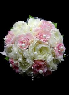 الحرير زهرة باقة الزفاف لحضور حفل زفاف