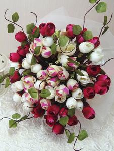 رائع الحرير زهرة سلكية شكل الزهور لحضور حفل زفاف