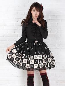 Gonna Lolita Dolce 2020 Alice In Wonderland Gonna Lolita SK a scacchi