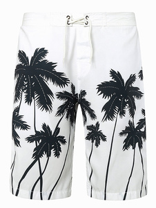 Pantalones cortos con estampado de palmeras