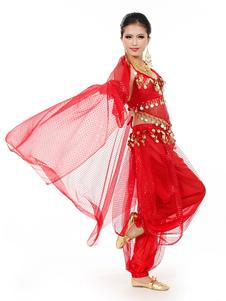 Шифон женщины танец живота наряд с шарф