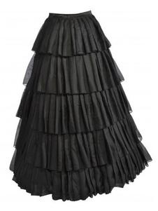 Великолепный черный многоуровневого спандекс сексуальная юбка для женщины