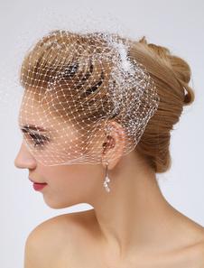 Jóias de cabelo branco casamento muito líquido