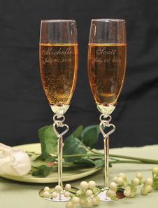 Brindando flautas para casamento (um par)