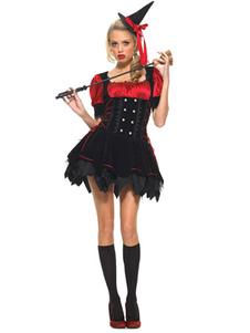 Jogo do traje vermelho bruxa para o Halloween Halloween