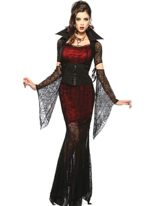 Disfraz Carnaval Halloween Gótico Vampiro Disfraz para Mujeres Halloween Carnaval
