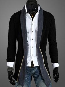 معطف رجالي مع تصميم التكس