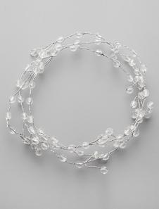 Handmade Boêmia nupcial Headband/argola com acentos de cristal claro