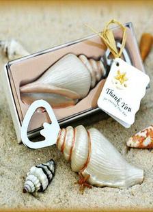 Favor do casamento mar Shell garrafa abridor