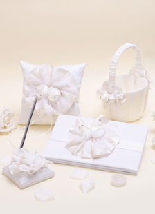 Conjunto de coleta de casamento com flores (conjunto de 4)