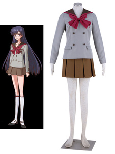 Costume Carnevale Sailor Moon cristallo Sailor Mars Carnevale Cosplay Costume Hino Rei scuola uniforme