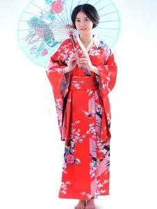 Traje de Fantasia de Halloween tradicional quimono japonês