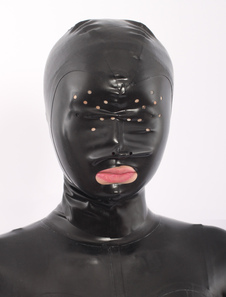 Costume Carnevale Cappe di lattice nero bocca aperta