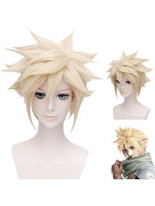 Carnaval Peluca de Final Fantasy de Cloud Strife Halloween