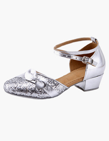 Ankle Strap Glitter Latin Dance Shoes