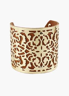 Vintage patrón hueco fuera Cuff Bracelet
