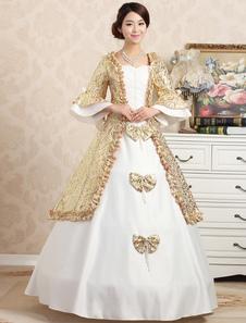 Disfraz Carnaval Vestido de Lolita de mangas Rococo barroco elegante Halloween Carnaval