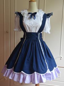 236a9d6f86a Lolitashow Tenue de lolita douse coton noeud dentelle  80