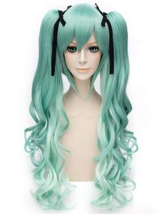 Carnaval Vocaloid Snow Miku Cosplay peluca Halloween