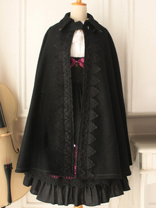 Chaquetas de lana negro Gothic Lolita