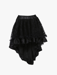 1950-е годы Vintage Petticoat Tutu Crinoline Underskirt Black High Low Skirt для женщин