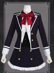 Diabolik Lovers Komori Yui Uniform Cloth Хэллоуин косплей костюм Хэллоуин