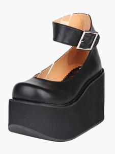 Round Toe Platform Ankle Strap Lolita Shoes